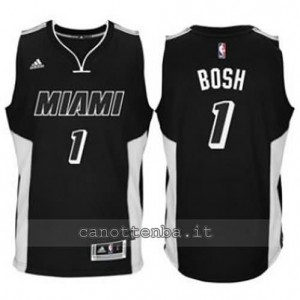 canotta chris bosh #1 miami heat 2014-2015 nero