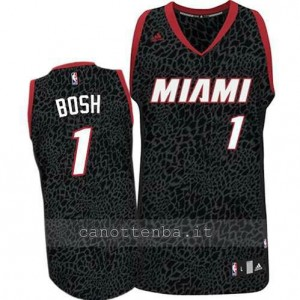 canotta chris bosh #1 miami heat leopardo