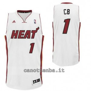 canotta chris bosh #1 miami heat revolution 30 bianca