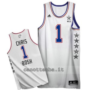 canotta chris bosh #1 nba all star 2015 bianca