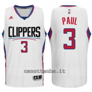canotta chris paul #3 los angeles clippers 2015-2016 bianca