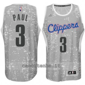 canotta chris paul #3 los angeles clippers lights grigio