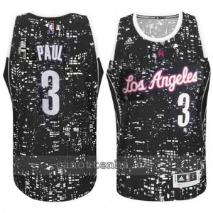 canotta chris paul #3 los angeles clippers lights nero