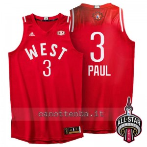 canotta chris paul #3 nba all star 2016 rosso