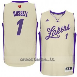 canotta d'angelo russell #1 los angeles lakers natale 2015 giallo