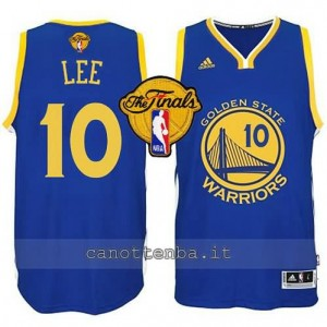 canotta david lee #10 golden state warriors finale 2015 blu