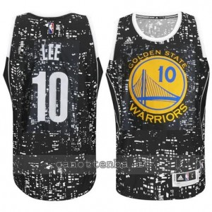 canotta david lee #10 golden state warriors lights nero