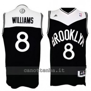 canotta deron williams #8 brooklyn nets retro nero