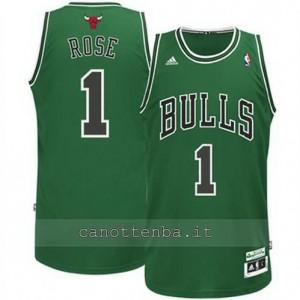 canotta derrick rose #1 chicago bulls moda verde