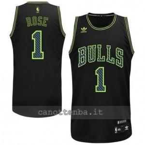 canotta derrick rose #1 chicago bulls revolution 30 nero