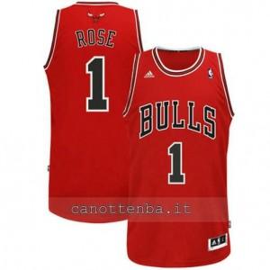 canotta derrick rose #1 chicago bulls revolution 30 rosso