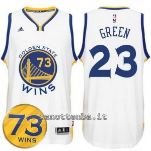 canotta draymond green #23 golden state warriors 73 wins 2016 bianca