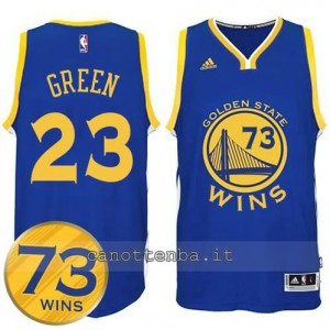 canotta draymond green #23 golden state warriors 73 wins 2016 blu