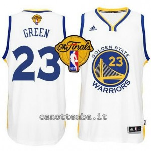 canotta draymond green #23 golden state warriors finale 2015 bianca