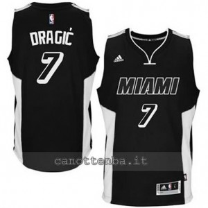 canotta goran dragic #7 miami heat 2014-2015 nero