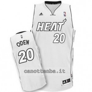 canotta greg oden #20 miami heat 2014-2015 whiteout
