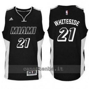 canotta hassan whiteside #21 miami heat 2014-2015 nero