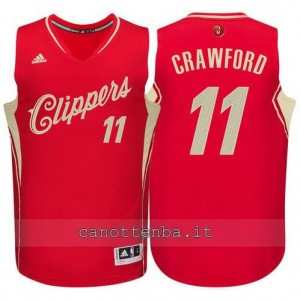 canotta jamal crawford #11 los angeles clippers natale 2015 rosso