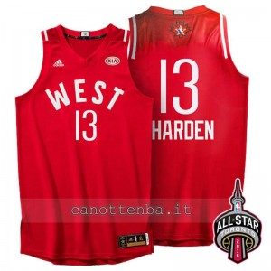 canotta james harden #13 nba all star 2016 rosso