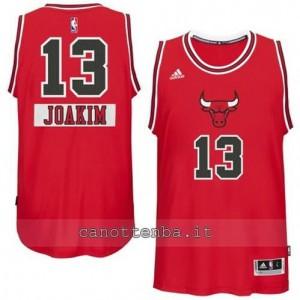 canotta joakim noah #13 chicago bulls natale 2014 rosso