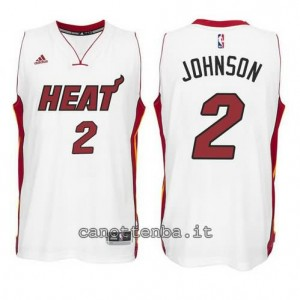 canotta joe johnson #2 miami heat 2014-2015 bianca