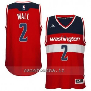 canotta john wall #2 washington wizards 2014-2015 rosso