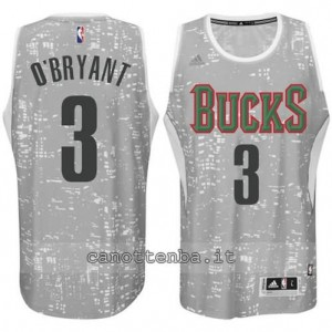 canotta johny o'bryant #3 milwaukee bucks lights grigio