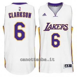 canotta jordan clarkson #6 los angeles lakers 2014-2015 bianca