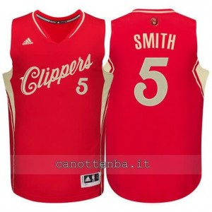 canotta josh smith #5 los angeles clippers natale 2015 rosso