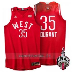 canotta kevin durant #35 nba all star 2016 rosso
