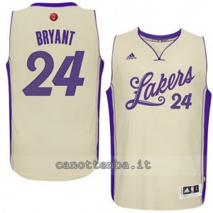 canotta kobe bryant #24 los angeles lakers natale 2015 giallo