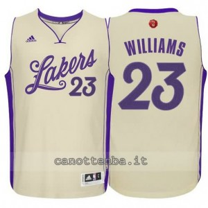 canotta lou williams #23 los angeles lakers natale 2015 giallo