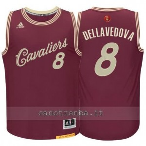 canotta matthew dellavedova #8 cleveland cavaliers natale 2015 resso