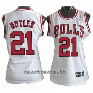 canotta basket donna chicago bulls jimmy butler #21 bianca