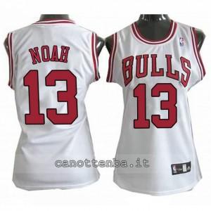 canotta basket donna chicago bulls joakim noah #13 bianca