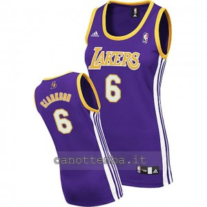 canotta basket donna los angeles lakers jordan clarkson #6 blu