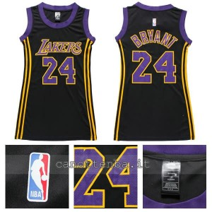 canotta basket donna los angeles lakers kobe bryant #24 navy blu