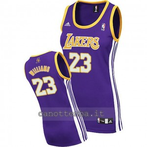 canotta basket donna los angeles lakers lou williams #23 blu