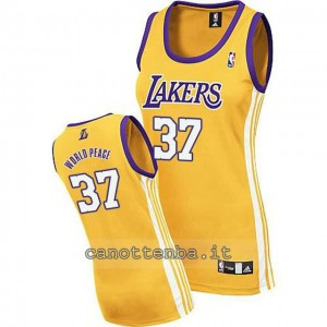 canotta basket donna los angeles lakers metta world peace #37 giallo
