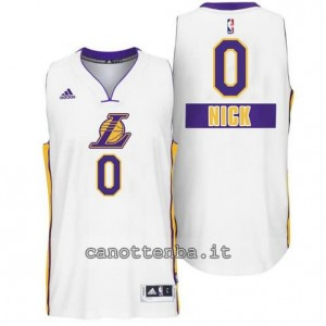 canotta nick young #0 los angeles lakers natale 2014 bianca