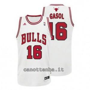 canotta pau gasol #16 chicago bulls revolution 30 bianca