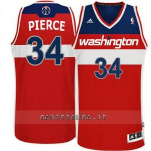 canotta paul pierce #34 washington wizards revolution 30 rosso