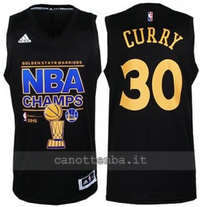 canotta stephen curry #30 golden state warriors campioni 2014-15 nero