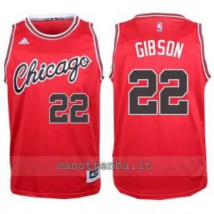 canotta taj gibson #22 chicago bulls 2015-2016 rosso