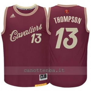 canotta tristan thompson #13 cleveland cavaliers natale 2015 resso