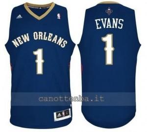 canotta tyreke evans #1 new orleans pelicans revolution 30 blu