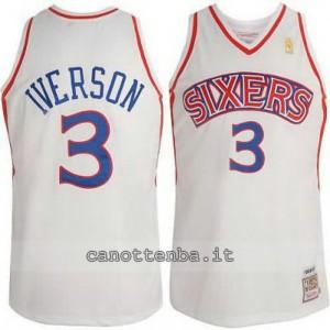 Canotta allen iverson #3 philadelphia 76ers 1996-1997 retro
