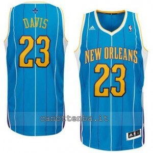 Canotta anthony davis #23 new orleans hornets revolution 30 blu
