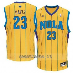 Canotta anthony davis #23 new orleans hornets revolution 30 giallo