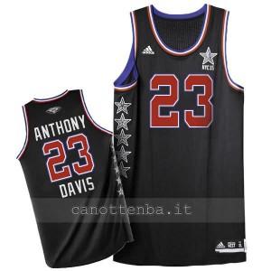canotta nba anthony davis #23 nba all star 2015 nero